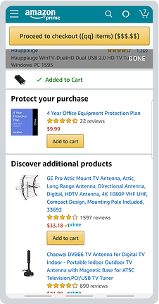 Amazon-Checkout-Bug