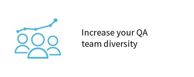 Increase your QA team diversity