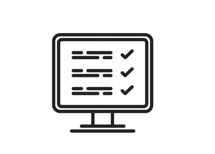 Computer screen checklist icon
