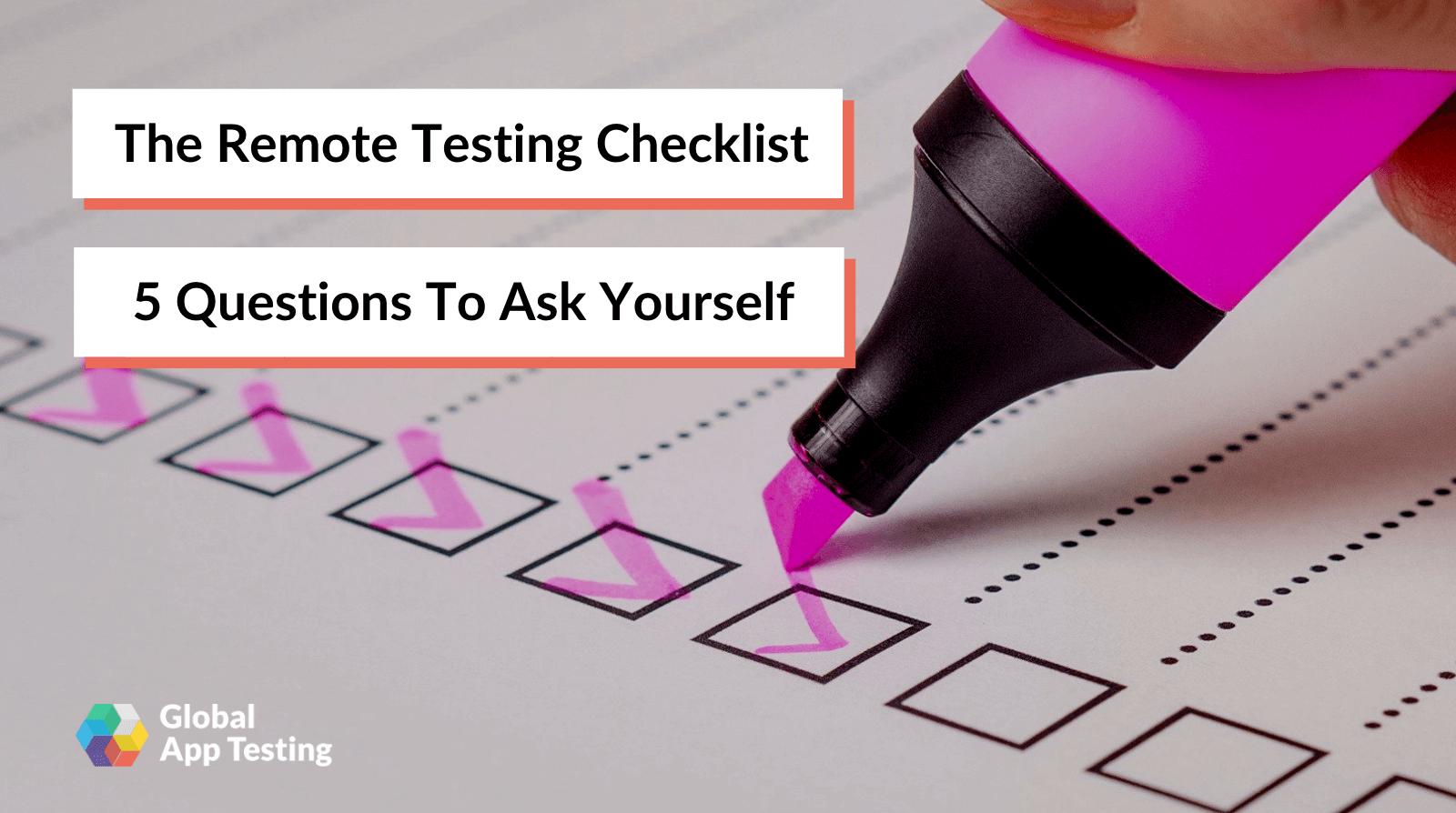 Remote Testing Checklist-1