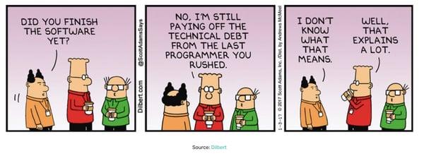technical debt cartoon