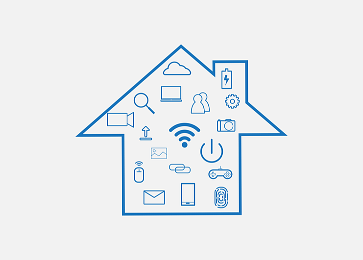 Connected house tech icons